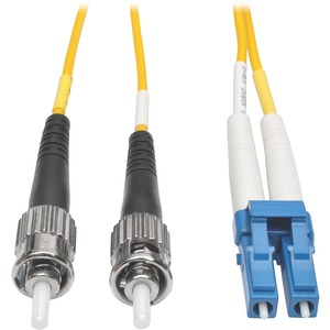 50ft 15m Lc/St 8.3/125 Yelllow Duplex Singlemode Patch Cable / Mfr. No.: N368-15m