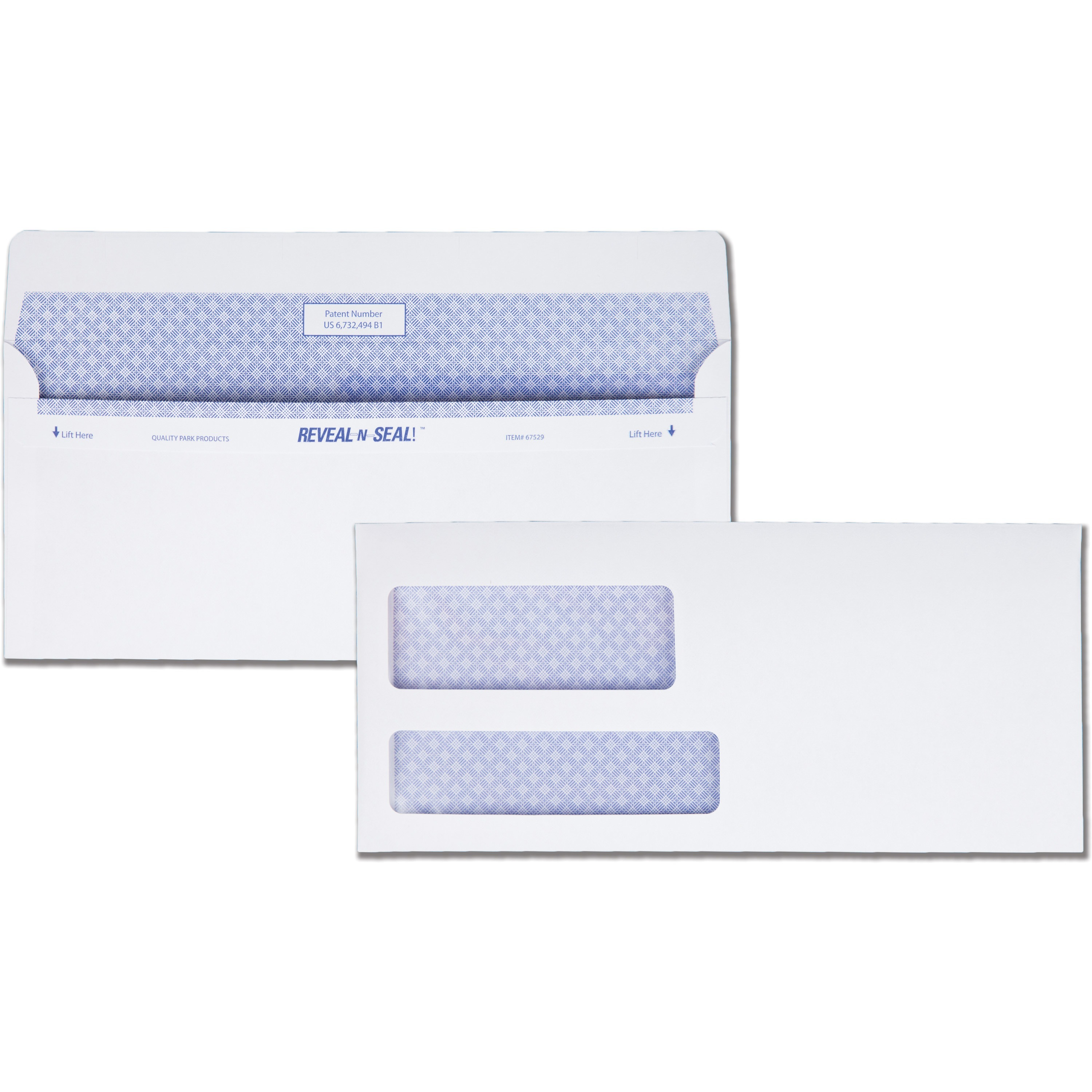 Quality park reveal n seal double window envelope madill for Window envelopes