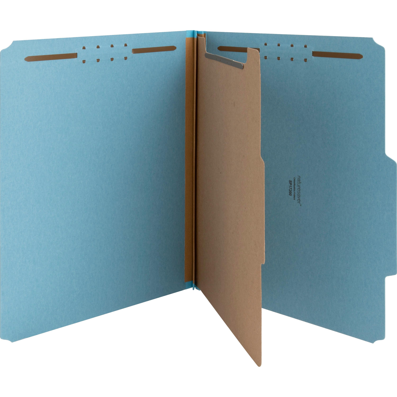 Acco Pressboard 25-Pt Classification Folders Legal 4-Section Leaf Green 10//Box