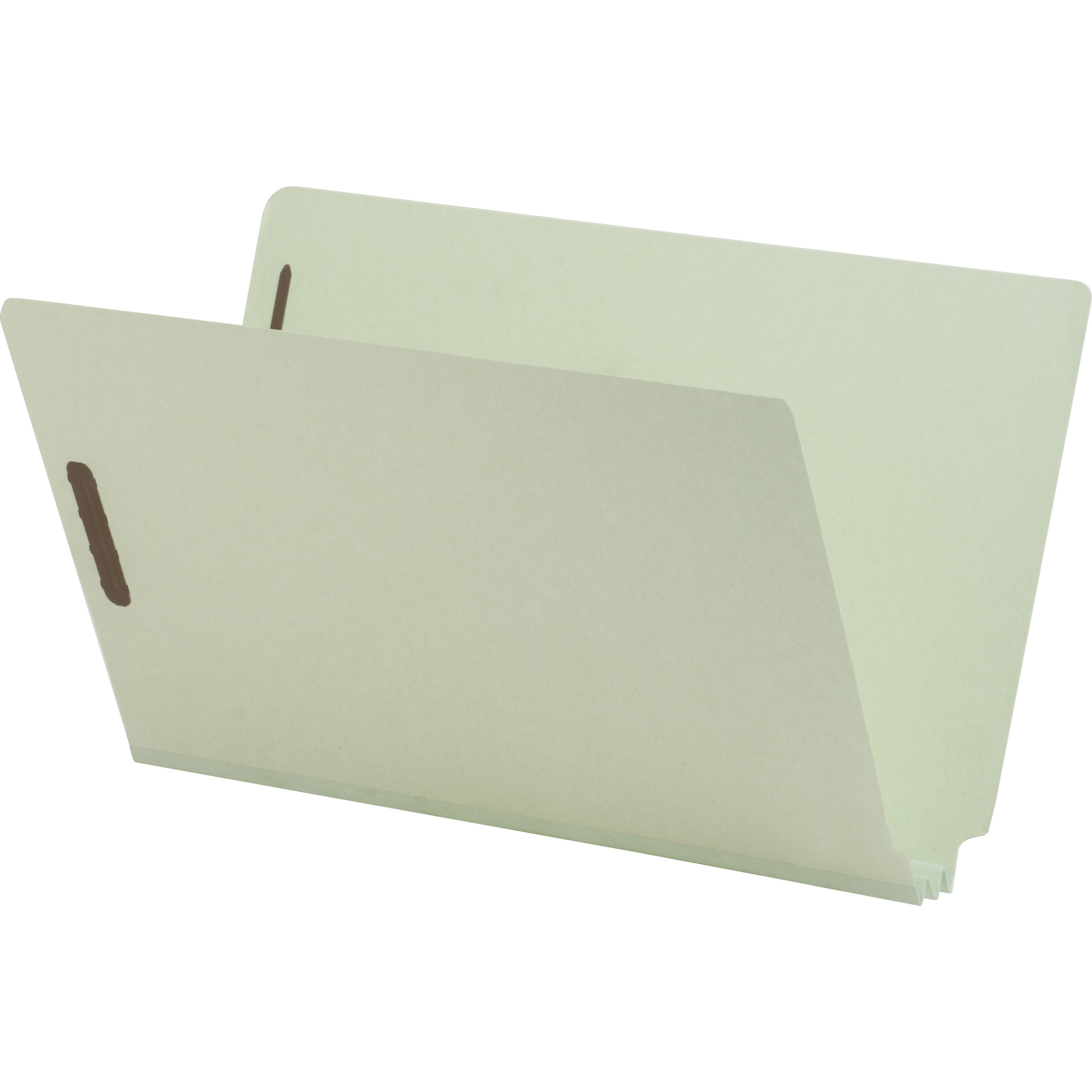 "Staples Pressboard Fastener Folders 1/"" Expansion Legal Size Gray//Green 25//BX"