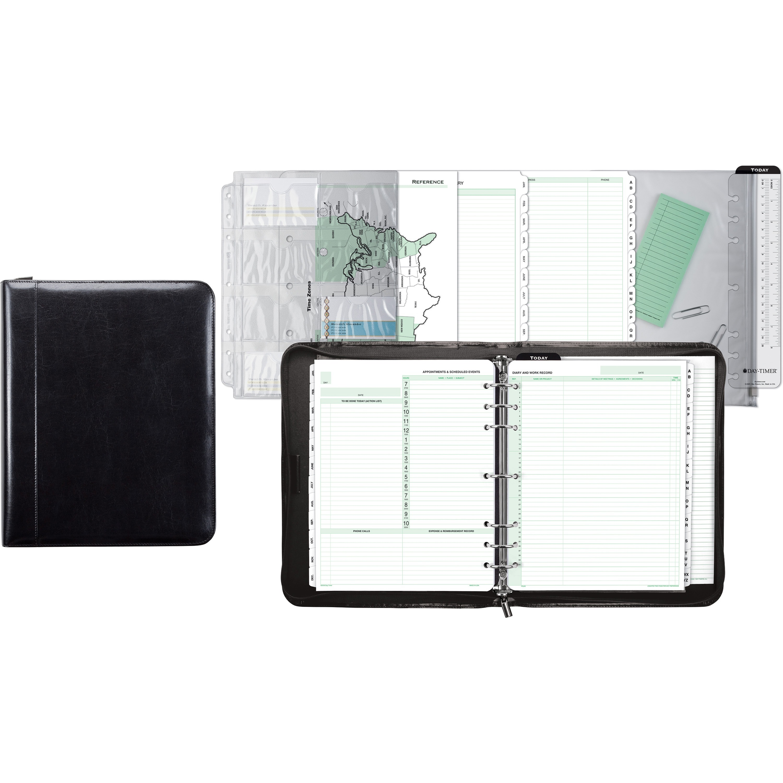 dtm84431 day timer aristo 1 bonded leather binder set office advantage. Black Bedroom Furniture Sets. Home Design Ideas