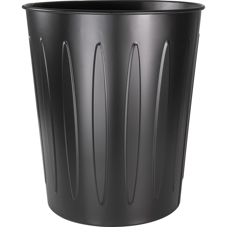 Genuine Joe Steel 6 Gallon Fire Safe Trash Can 22 71 L Capacity 14