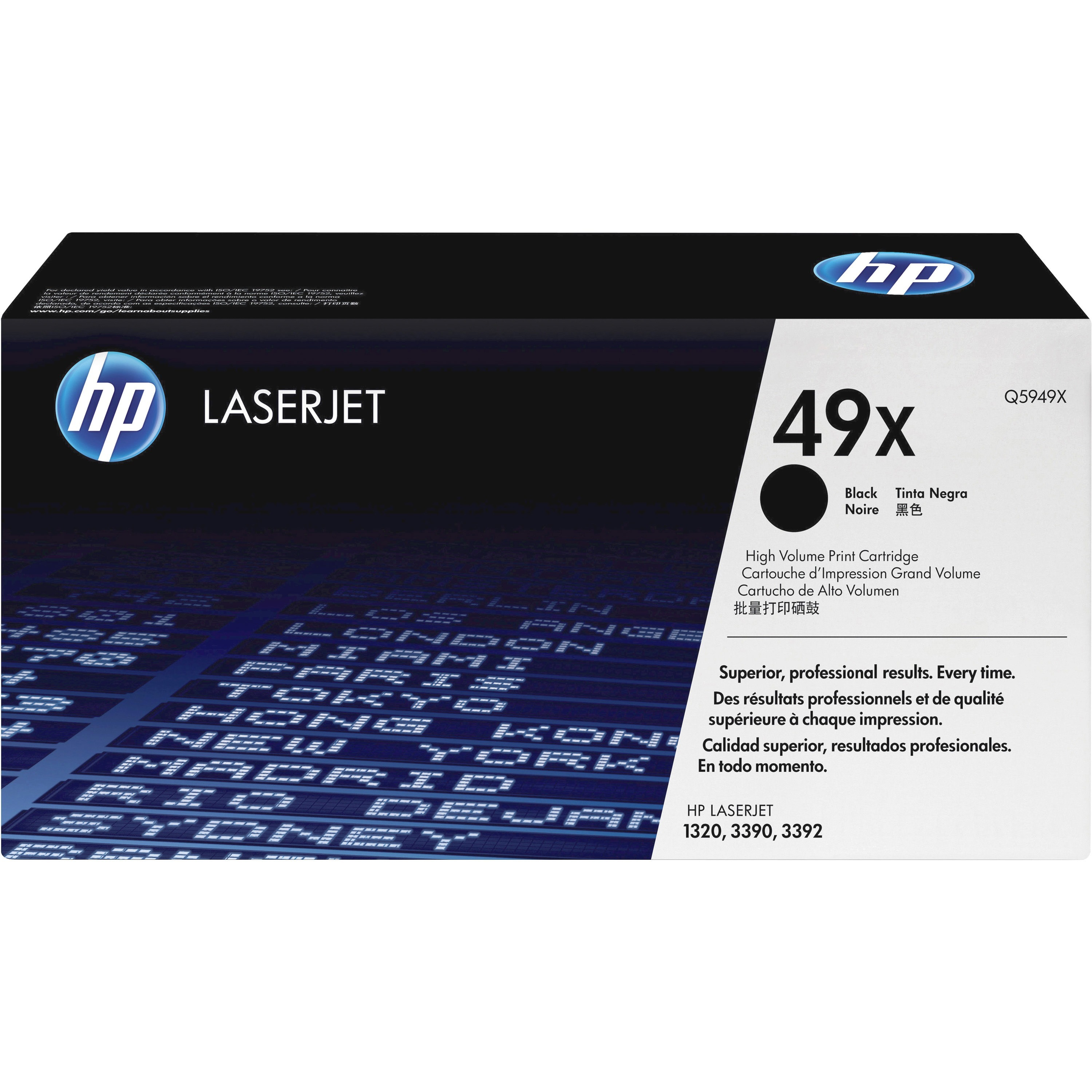 HP 49X Toner Cartridge - Black - Laser - 6000 Page - 1 Each