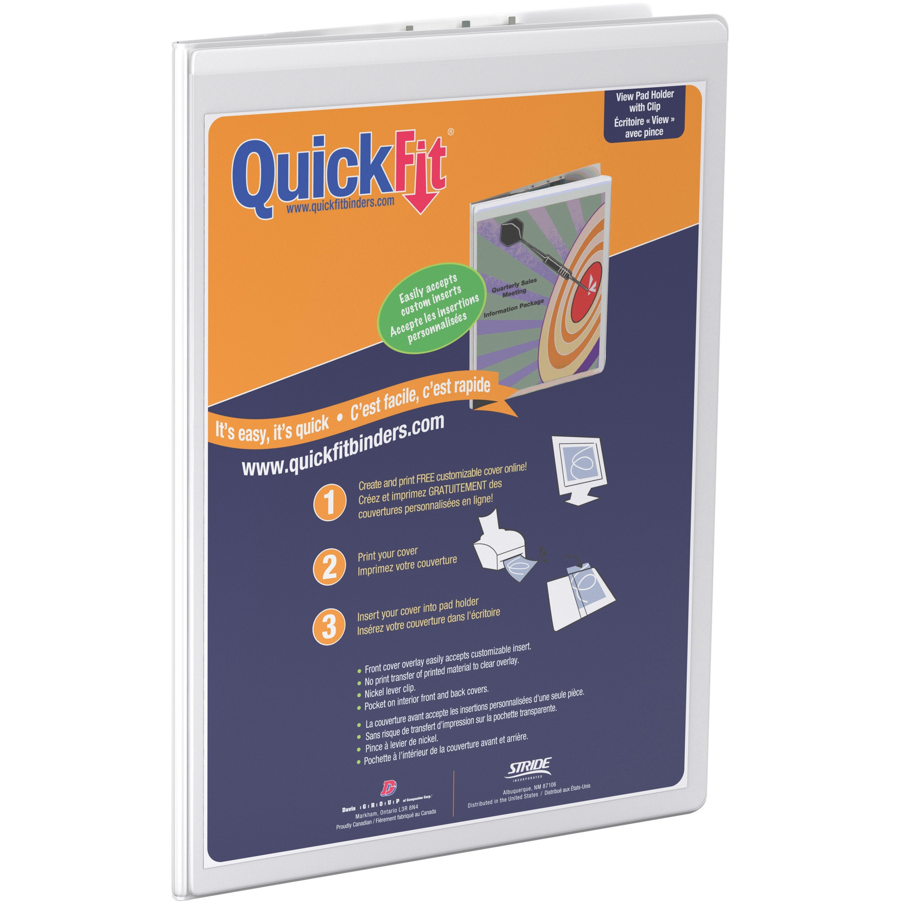 Quickfit Deluxe Pad Holder Clipboard Vinyl Nickel 1 Each White
