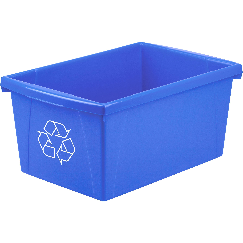 Storex Legal Size Paper Recycle Bin - 20 82 L Capacity - Rectangular -  Heavy Duty, Crack Resistant, Dent Resistant - 12