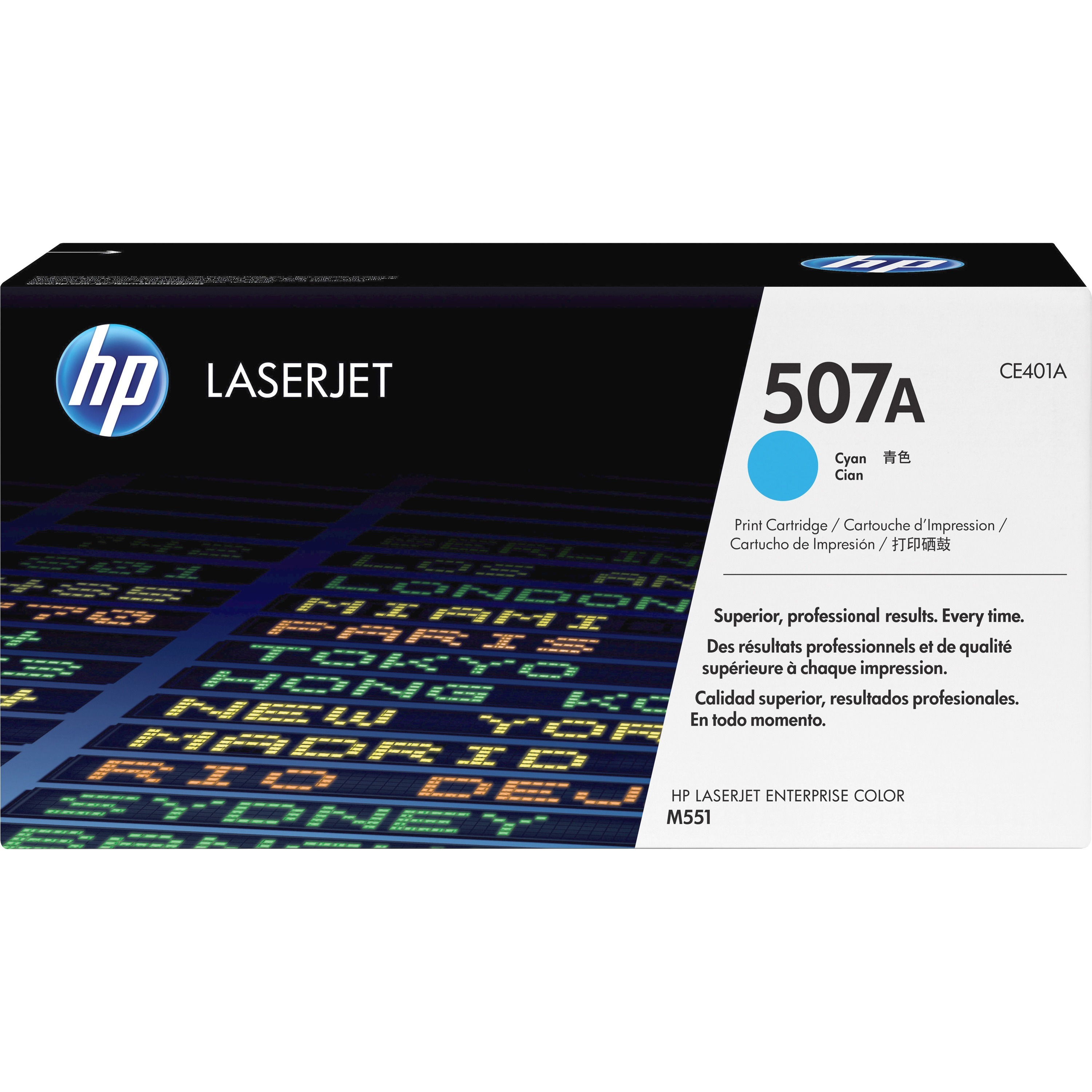 HP 507A Toner Cartridge - Cyan - Laser - 6000 Page - 1 Pack
