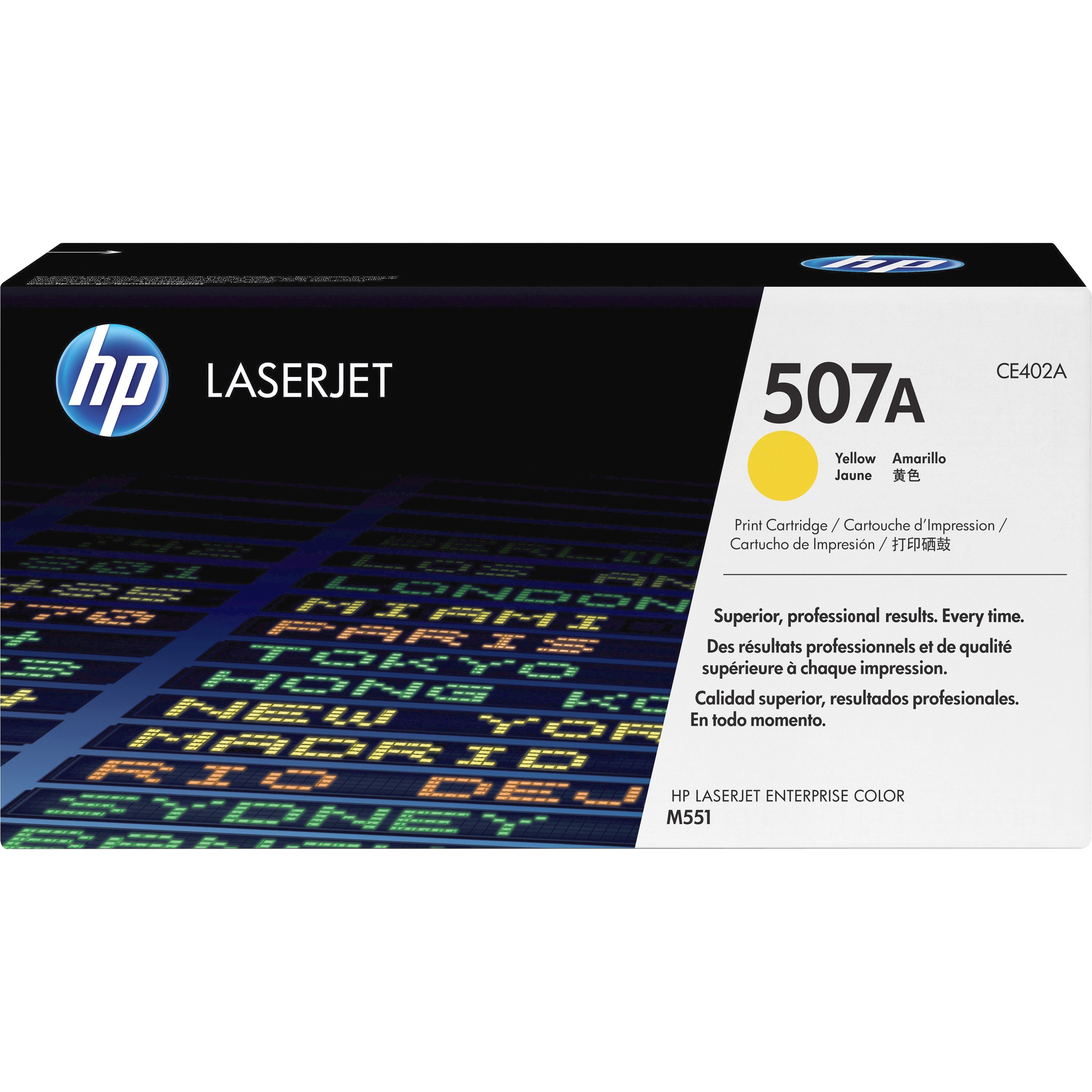 HP 507A Toner Cartridge - Yellow - Laser - 6000 Page - 1 Pack