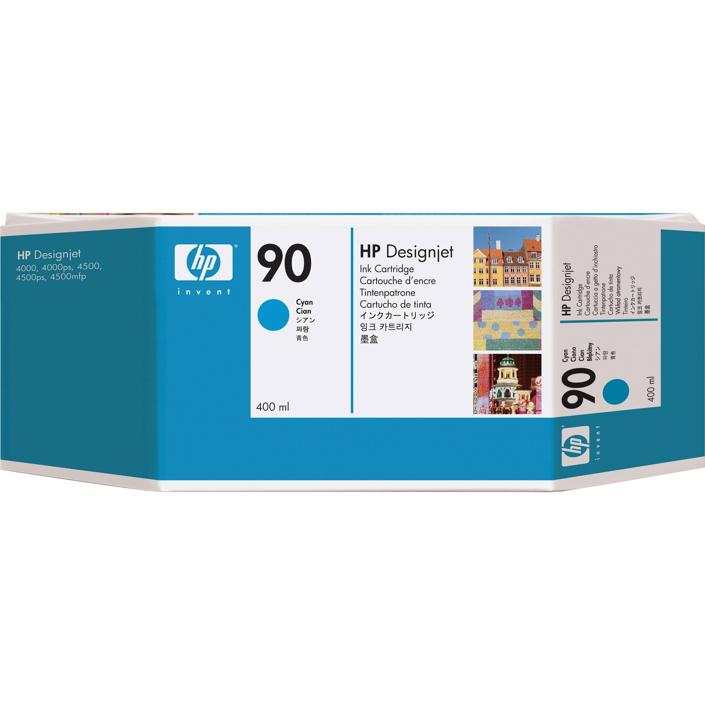 HP 90 Cyan Ink Cartridge - 400ml
