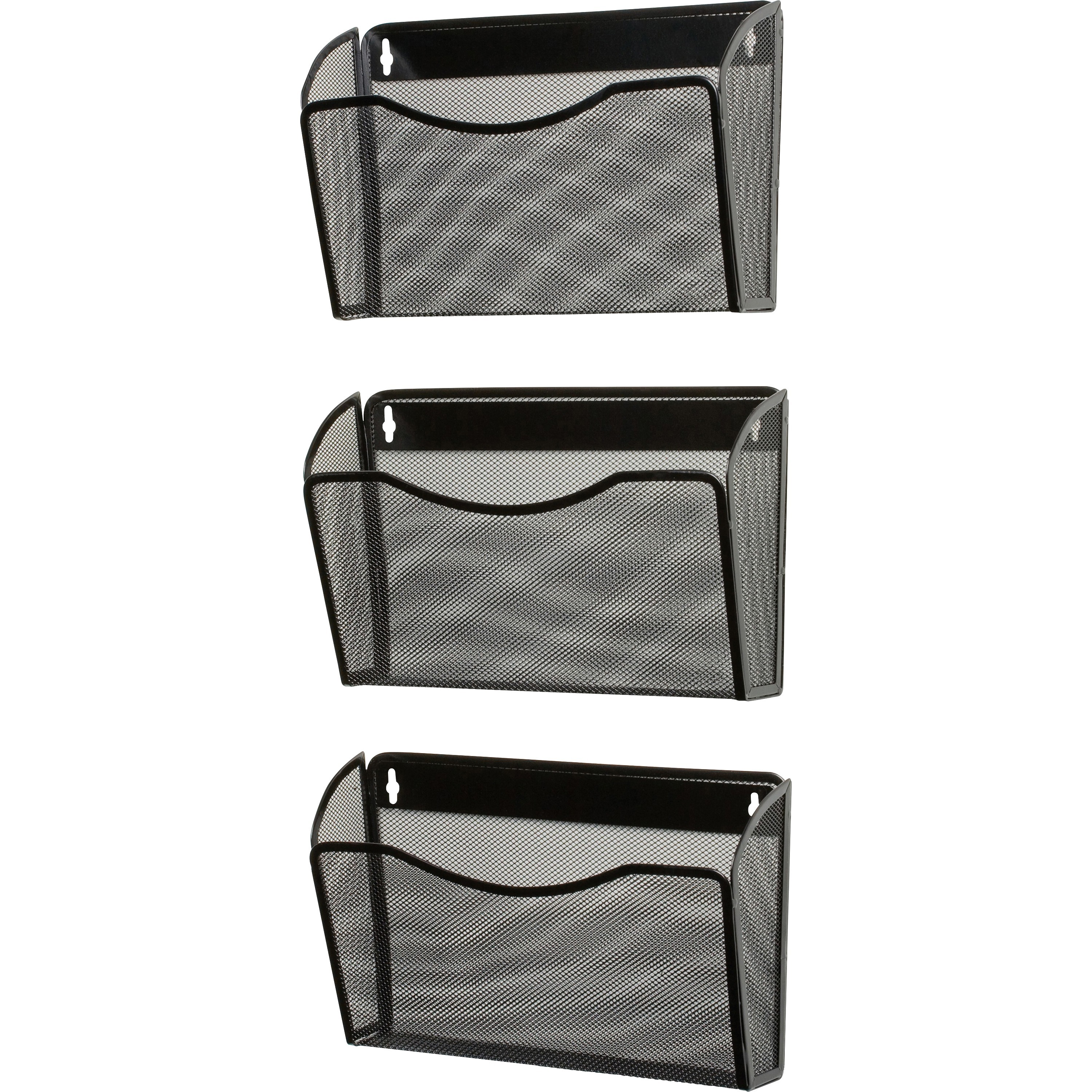 Rolodex Expressions Mesh 3 Pack Hanging Wall Files Pocket S 33 5 Height X 14 Width 6 Depth Mountable Black Steel 1each