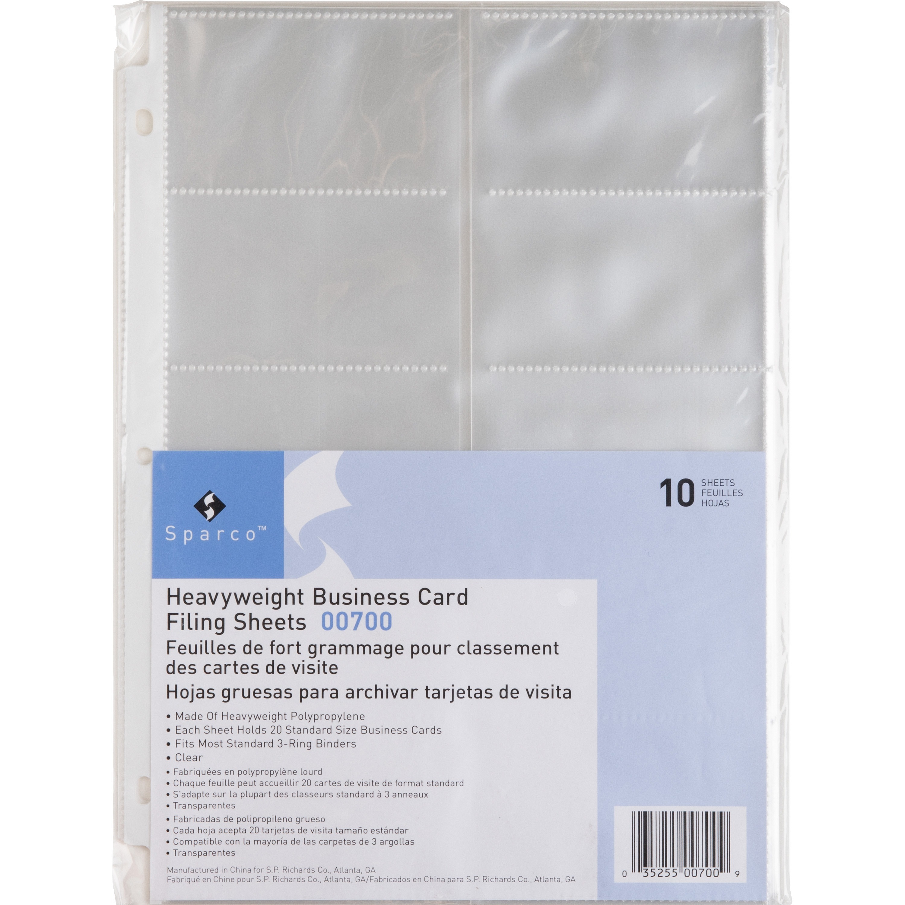 click to enlarge - Business Card Sleeves