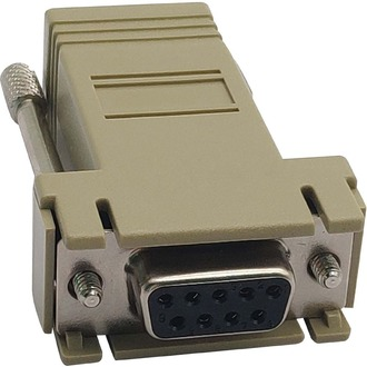 CROSS OVER ADAPTER RJ45-F/DB9-F FOR CONSOLE SERVERS