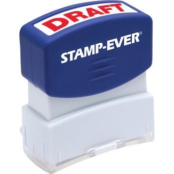 "Pre-inked Red DRAFT Stamp, Message Stamp, ""DRAFT"", 0.56"" Impression Width x 1.69"" Impression Length, 50000 Impressions, Red"