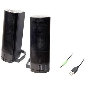 Connectland CL-SPK20037 2.0 Speaker System - 5 W RMS - Black - Desktop - 100 Hz to 20 kHz