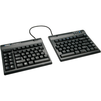 Kinesis Freestyle2 Keyboard for PC - Cable Connectivity - USB Interface - Membrane Keyswitch - Black