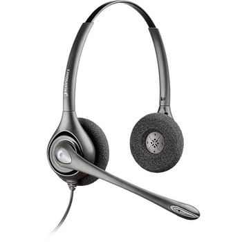 Plantronics® SupraPlus Office Headset - Stereo - Quick Disconnect - Wired - Over-the-head - Binaural - Supra-aural - Noise Cancelling Microphone - Noise Canceling