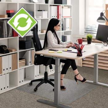 Ecotex Evolutionmat Standard Pile Chair Mat Home Office Carpet 48 Length X 36 Width X 0 37 Thickness Rectangle Polymer Clear Wb Mason