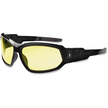 ergodyne® Loki Yellow Lens Safety Glasses, Black