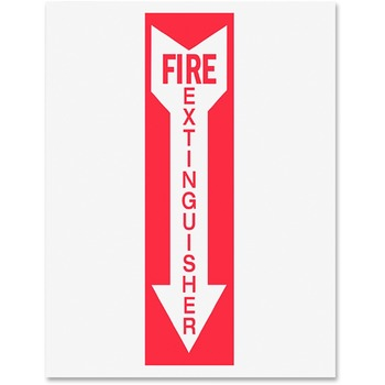 Tarifold, Inc. Safety Sign Inserts-Fire Extinguisher - 6 / Pack - Fire Extinguisher Print/Message - Red Print/Message Color - White, Red