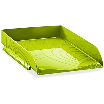 "CEP Origins Collection Letter Tray, 2 1/2"" x 10 1/5"" x 13 7/10"", Desktop, Green, Polystyrene"