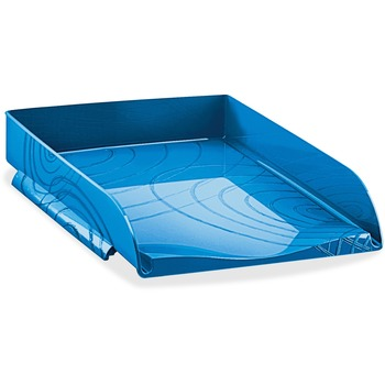 """CEP Origins Collection Letter Tray, 2.5"""" H x 10.2"""" W x 13.7"""" D, Polystyrene, Ocean Blue"""
