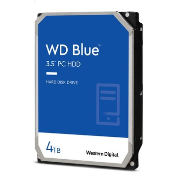 Western Digital Blue 4 TB 3.5-inch SATA 6 Gb/s 5400 RPM PC Hard Drive - 5400rpm - 64 MB Buffer - 2 Year Warranty