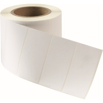 """Direct Thermal Labels, Permanent Adhesive, 4"""" Width x 2"""" Length, Rectangle, Direct Thermal, White, 2/BX"""