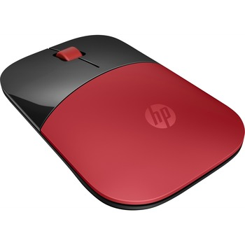 HP Z3700 Red Wireless Mouse - Optical - Wireless - Radio Frequency - Red, Black - USB - 1200 dpi - Scroll Wheel - 3 Button(s) - Symmetrical