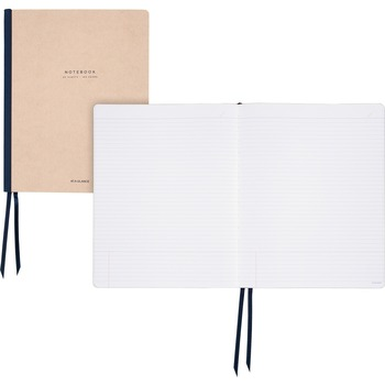 "AT-A-GLANCE® Meeting Notebook Twin Wire, 80 Sheets, Case Bound, Ruled, 8 3/4"" x 11"""