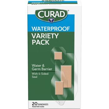 Curad® Assorted Waterproof Transparent Bandages, Transparent, Polyurethane, 20/BX