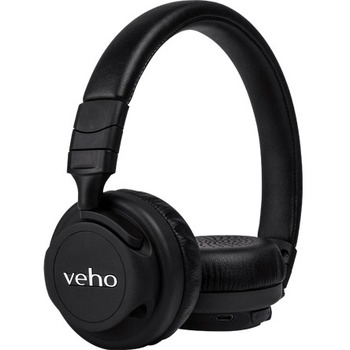 Veho Veho ZB5 On-Ear Wireless Bluetooth Headphones - Stereo - Mini-phone - Wired/Wireless - Bluetooth - 32.8 ft - 32 Ohm - 20 Hz - 20 kHz - Over-the-head - Binaural - Circumaural - 3.94 ft Cable