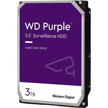Western Digital Purple 3TB Surveillance Hard Drive - 5400rpm - 64 MB Buffer - 3 Year Warranty