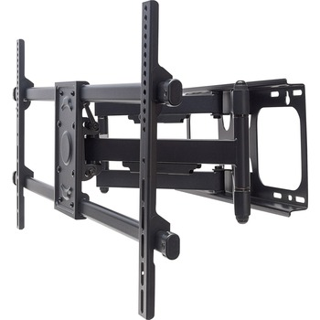 """Universal LCD Full-Motion Large-Screen Wall Mount - Holds One 37"""" to 90"""" Flat-Panel or Curved TV up to 165 lbs. - Black"""