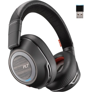 Voyager 8200 Uc Stereo Bluetooth Headset With Active Noise Canceling Stereo Mini Phone Wired Wireless Bluetooth 98 4 Ft Over The Head Binaural Circumaural Noise Canceling Black Wb Mason