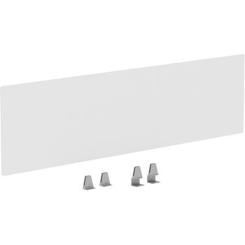 """Lorell® Relevance Modesty/Privacy Panels, For 71 5/8"""" W Desks, Clear"""