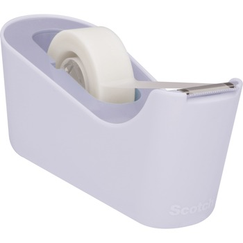 "Desktop Tape Dispensers, 1"" Core, Non-skid Base, Lavender"