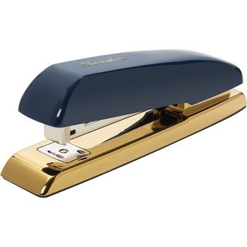 Durable Desktop Staplers, 20 Sheets Capacity, Navy Blue