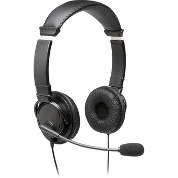 Kensington® Hi-Fi Headphones with Microphone, Wired, 6 ' Cable, Noise Cancelling Microphone