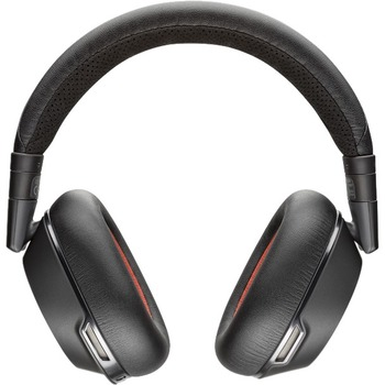 Voyager 8200 Uc Stereo Bluetooth Headset Stereo Mini Phone Wired Wireless Bluetooth 98 4 Ft Over The Head Binaural Circumaural Noise Cancelling Microphone Black Wb Mason
