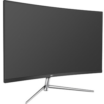 "AOC C32V1Q 31.5"" Full HD Curved Screen LCD Monitor - 16:9 - Black, Silver - 1920 x 1080 - 16.7 Million Colors - 250 Nit Typical - 4 ms GTG - HDMI - VGA - DisplayPort"