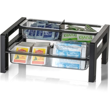 """Officemate BreakCentral BreakCentral II Condiment Tower, 5.8"""" Height x 13.6"""" Width, Black"""