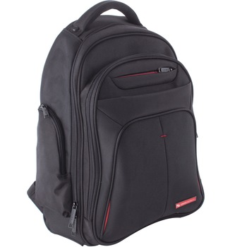 "Carrying Case (Backpack) for 15.6"" Notebook, Black, Bump Resistant, Scratch Resistant, Handle, Shoulder Strap, 19.5"" Height x 8.5"" Depth x 16"" Width"