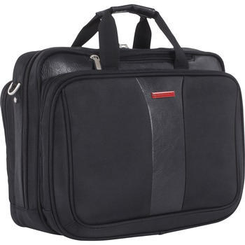 """Carrying Case (Briefcase) for 17.3"""" Notebook, Black, Bump Resistant Interior, Scratch Resistant Interior, Handle, 18"""" Width x 8"""" Depth x 13"""" Height"""