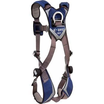 DBI-SALA® ExoFit NEX Vest-Style Harness, 420 lb. Capacity, Zinc Plated Steel/Aluminum/Polyester, Gray