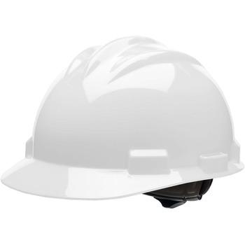 Bullard® Standard S61 Safety Cap, Adjustable Ratchet, Polyethylene Shell, White