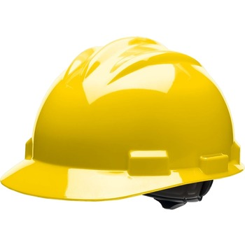 Bullard® Standard S61 Safety Cap, Adjustable Ratchet, High-Density Polyethylene Shell, Yellow