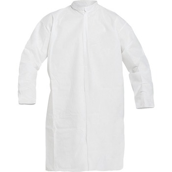 DuPont® ProShield 10 Disposable Protective Frock, Elastic Wrist, White, Large, 30/CS