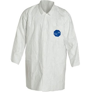 DuPont® Tyvek Lab Coat, 7XL, White, Polyethylene, 30/CS