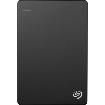 Seagate® Backup Plus Slim STHN1000400 1 TB Portable Hard Drive - External - Black - USB 3.0 - 3 Year Warranty
