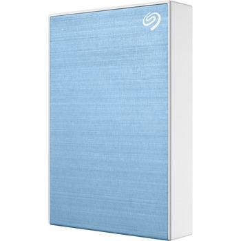 "Backup Plus Portable 5 TB Portable Hard Drive - 2.5"" External - Light Blue - USB 3.0 Type C - 2 Year Warranty"