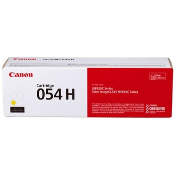 Canon® 054H Toner Cartridge - Yellow - Laser - High Yield - 2300 Pages
